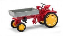 Traktor RS09 červený s přední korbou BUSCH 210005000