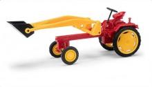 Traktor RS09 červený s čelním nakladačem BUSCH 210004700