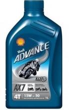 Olej SHELL ADVANCE 4T AX7 15W-50 1L