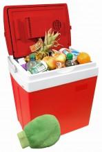 Chladící box COMPASS 30L RED 12/230V + rukavice