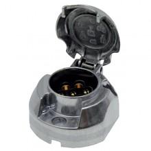 Zásuvka 7 pólů 12V/24V hliník s úzkým profilem