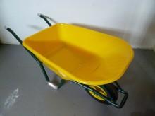 Kolečko zahradní KH LIVEX objem korby 100 l žluté