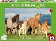 Puzzle Koníci 200 dílů