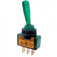 Vypínač páčkový ON-OFF 1pol.12-24V/20-5A zelený