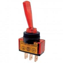 Vypínač páčkový ON-OFF 1pol.12-24V/20-5A červený