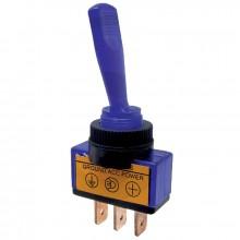 Vypínač páčkový ON-OFF 1pol.12-24V/20-5A modrý