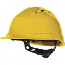 Ochranná helma DELTAPLUS QUARTZ UP IV s kšiltem žlutá
