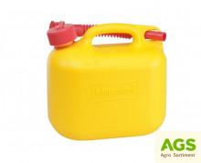 Kanystr 5 L plastový STANDARD žlutý
