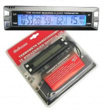 Teploměr digitální EC30, hodiny, voltmetr 12V, 61741