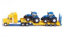 Tahač LKW s podvalníkem a traktory NEW HOLLAND