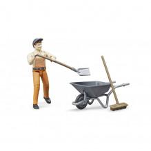 Figurka muž pracovník s nářadím WORLD BRUDER 62130