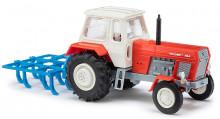 Traktor FORTSCHRITT ZT 300 D červený s kypřičem GRUBBER BUSCH 8712