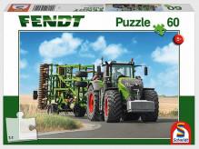 Puzzle Traktor FENDT a kompaktor AMAZONE 60 dílů