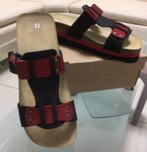 Obuv pracovní sandál LA PALMA JANA červený/černý