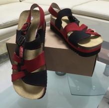 Obuv pracovní sandál TENERIFE JANA s páskem červenočerný