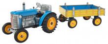 Traktor ZETOR modrý s přívěsem KOVAP 0392
