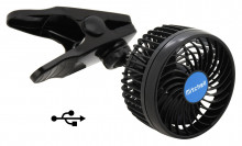 Ventilátor 5V USB MITCHELL 115 mm na klips
