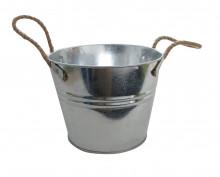 Kbelík 5L pozinkovaný s provazem