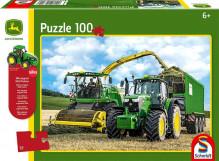 Schmidt Puzzle Traktor JOHN DEERE 6195 a řezačka JOHN DEERE 8500