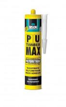 Lepidlo gelové BISON PU MAX 340g dřevo