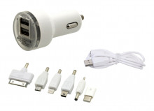Nabíječka do auta USB12V 2,1A (Iphone 4-8, miniUSB, microUSB, USB-C)