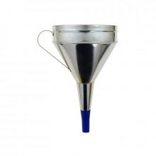 Trychtýř plechový 160 mm s plastovou koncovkou