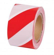 Páska výstražná červenobílá 50 mm návin 33 m