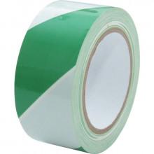 Páska výstražná zelenobílá 50 mm návin 33 m
