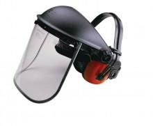 Ochranný štít s ochranou sluchu GRANIT zorník plexi