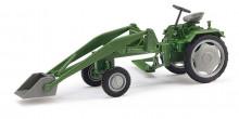 BUSCH 210004701 Traktor RS09 zelený s čelním nakladačem 1:87