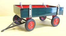 Přívěs traktorový modrý nízké bočnice HANOMAG KOVAP 0403 H