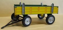 Přívěs traktorový žlutý nízké bočnice KOVAP 0403 Z1