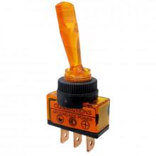Vypínač páčkový ON-OFF 1pol.12-24V/20-5A oranžový
