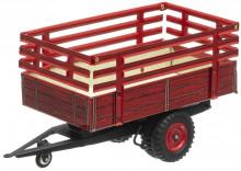 Návěs traktorový červený s nástavbou KOVAP 0431