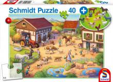 Schmidt Puzzle Statek a zvířátka 40 dílů