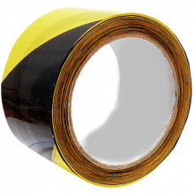 Páska výstražná černožlutá 75 mm návin 33 m