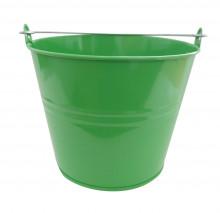 Kbelík 7L lakovaný zelený