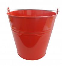 Kbelík 7L lakovaný červený