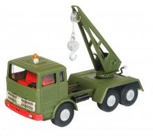 Autojeřáb MB vojenský zelený