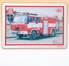 Cedule plechová TATRA 815 CAS 24 hasiči
