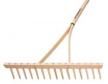 Hrábě dřevěné GARTENLAND 15 hrotů s násadou