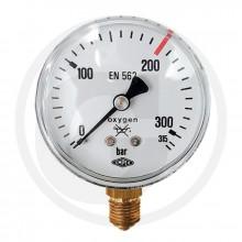 Manometr kyslík MPa 0-200/315 bar