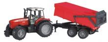 Traktor MASSEY FERGUSON 7480 s návěsem BRUDER 02045