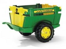 Návěs FARM TRAILER JOHN DEERE za šlapací traktory ROLLY TOYS zelený