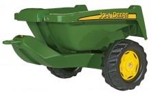 Návěs sklopný KIPPER II JOHN DEERE za šlapací traktory ROLLY TOYS zelený