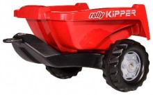 Návěs sklopný KIPPER II ROLLY za šlapací traktory ROLLY TOYS červený