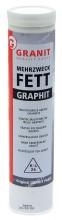 Plastické mazivo GRANIT FETT grafit patrona 400g +120°C
