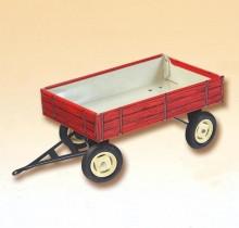 Přívěs traktorový nízké bočnice červený PORSCHE KOVAP 0430