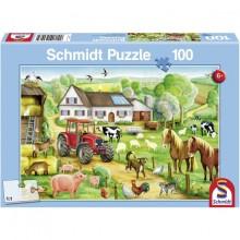 Puzzle Zemědělská farma a statek 100 dílů