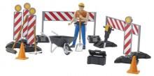 Figurka muž pracovník na stavbě s nářadím a příslušenstvím WORLD BRUDER 62000